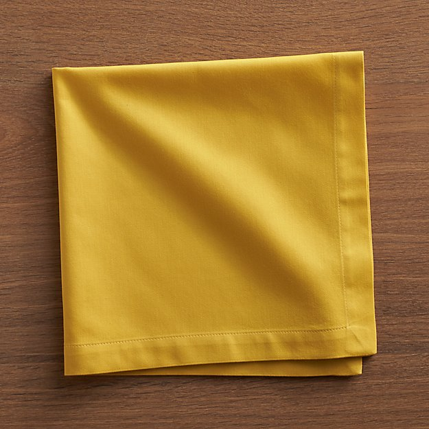 Fete Mustard Yellow Cloth Napkin Crate And Barrel
