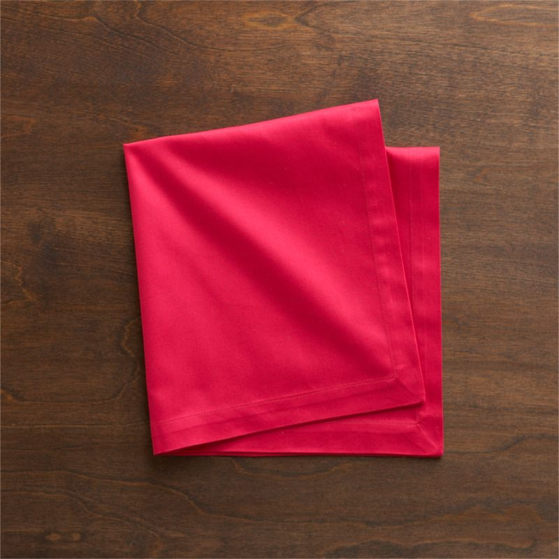 "Soft cotton napkins mix and match gorgeous tones of saturated color. Elegant yet easy-care napkin is tailor finished with 1"" hem and mitered corners.<br /><br /><NEWTAG/><ul><li>100% cotton</li><li>Machine wash cold, tumble dry; warm iron as needed</li><li>Made in India</li></ul>"