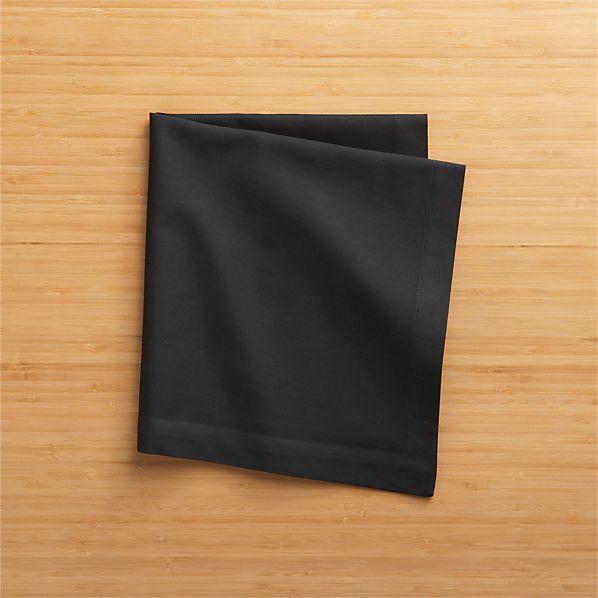 Fete Black Cotton Napkin