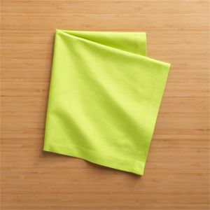 Set of 8 Fete Lime Cotton Napkins