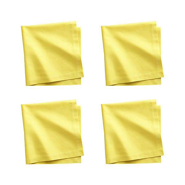 Set of 4 Fete Maize Cotton Napkins