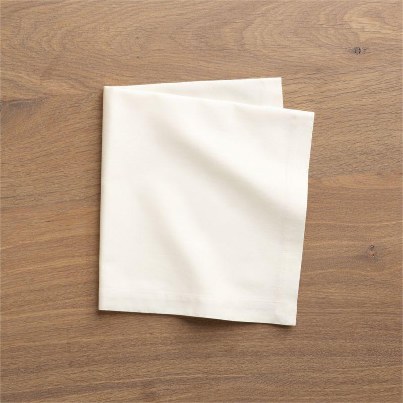 Set of 8 Fete Vanilla Cotton Napkins