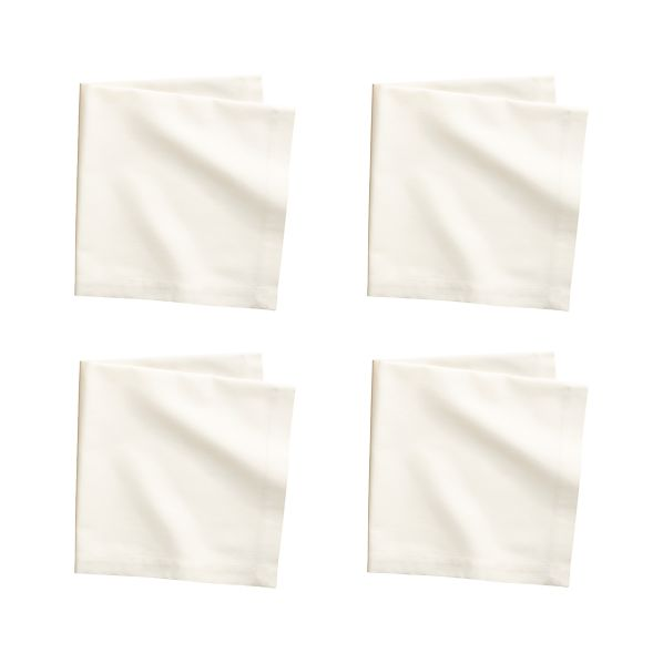Set of 4 Fete Vanilla Cotton Napkins