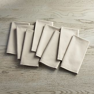 Set of 8 Fete Dove Grey Cloth Napkins