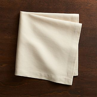 Set of 8 Fete Ecru Cotton Napkins