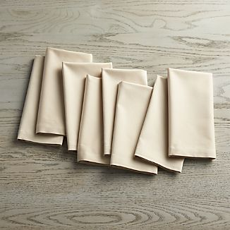 Set of 8 Fete Ecru Ivory Cloth Napkins