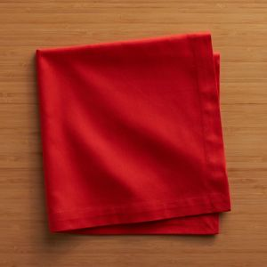 Set of 8 Fete Flame Cotton Napkins