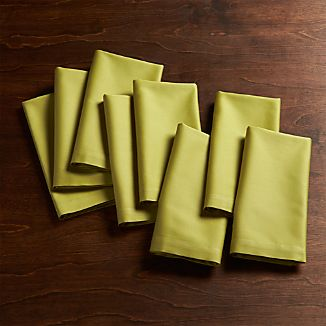 Set of 8 Fete Green Cotton Napkin