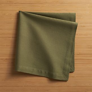 Set of 8 Fete Moss Cotton Napkins