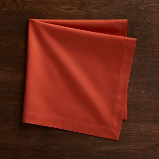 Fete Orange Cotton Dinner Napkin