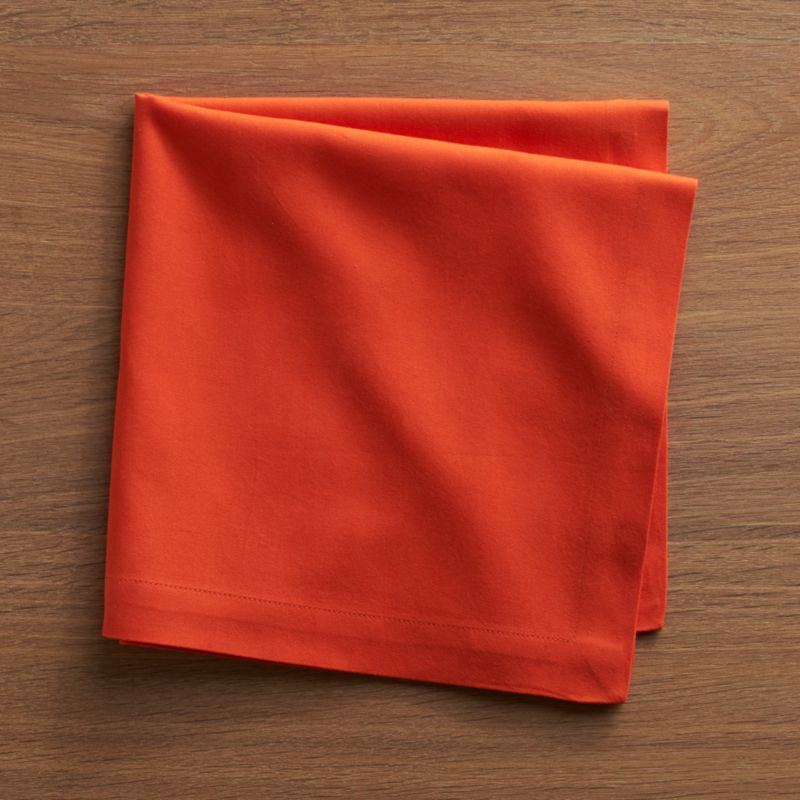 "Soft cotton napkins mix and match gorgeous tones of saturated color. Elegant yet easy-care napkin is tailor finished with 1"" hem and mitered corners.<br /><br /><NEWTAG/><ul><li>100% cotton</li><li>Machine wash, tumble dry; warm iron as needed</li><li>Made in India</li></ul>"