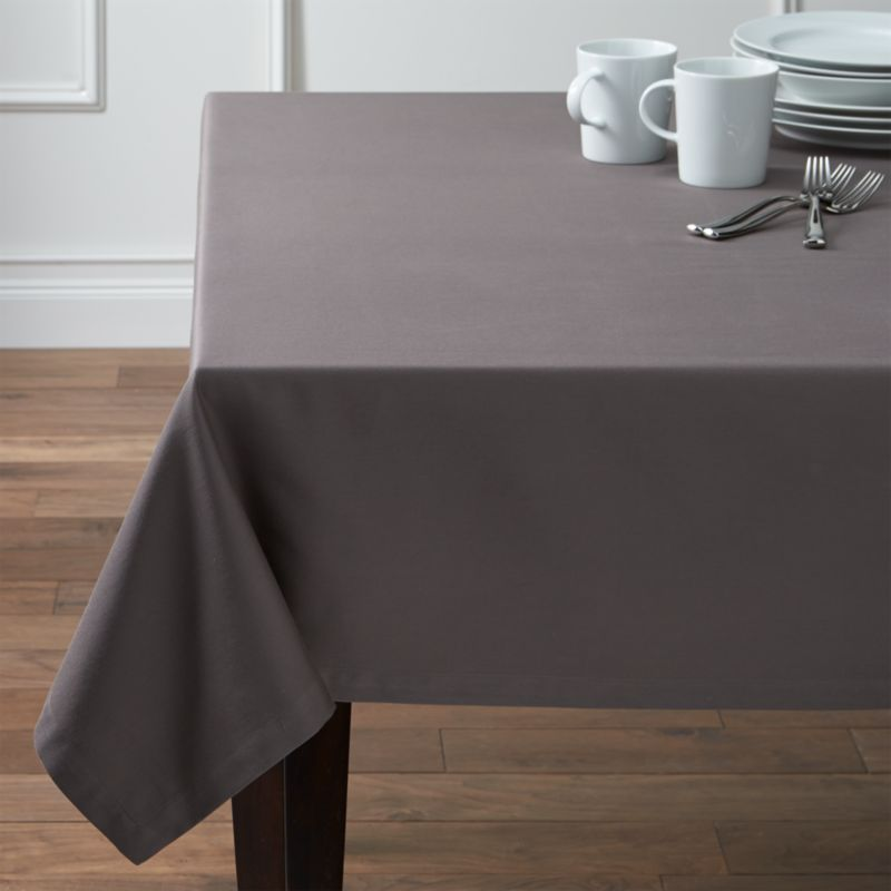 "Fete 60""x144"" Pewter Grey Tablecloth"