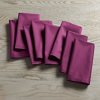 Set of 8 Fete Violet Cotton Napkin