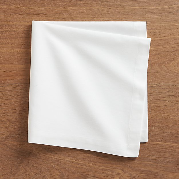 Set Of 8 Fete White Cloth Napkins Crate And Barrel