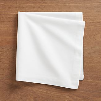 Set of 8 Fete White Cotton Napkins