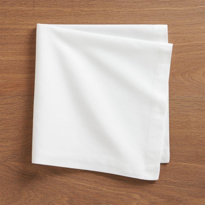 Set of 8 Fete White Cloth Napkins