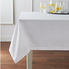"Fete White 60""x90"" Tablecloth"