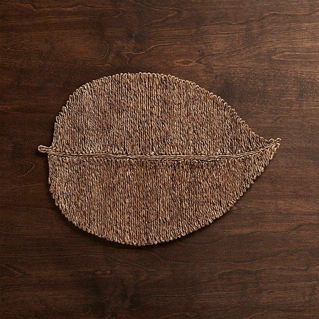 Fiber Leaf Placemat Crate and Barrel : fiber leaf placemat from www.crateandbarrel.com size 625 x 625 jpeg 119kB