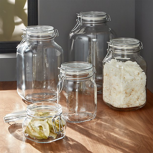 fido jars with clamp lids crate and barrel. Black Bedroom Furniture Sets. Home Design Ideas