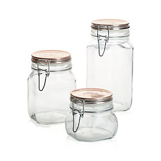 Fido Jars with Copper Clamp Lid