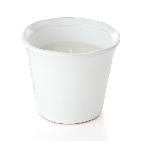 Festive White Candlepot