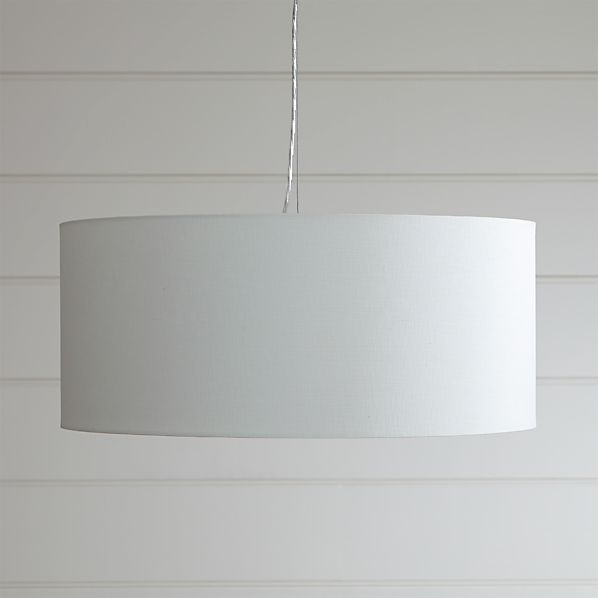 Finley Large White Pendant Light