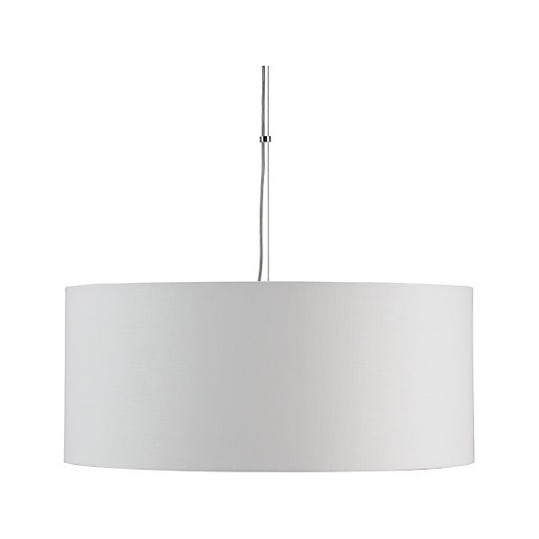 Finley Large White Pendant Light