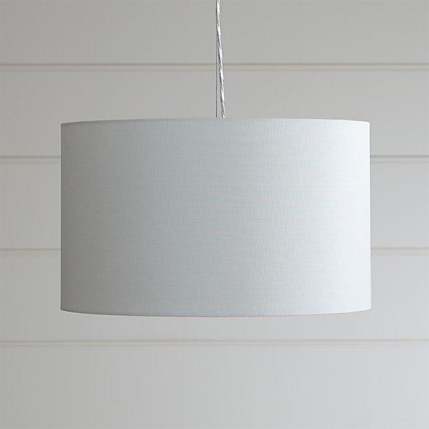 Finley Small White Pendant Light