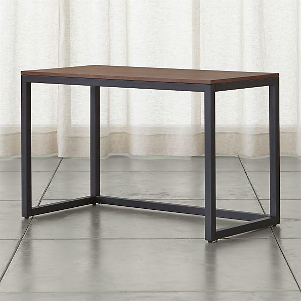 Finn Walnut Top Desk with Black Base