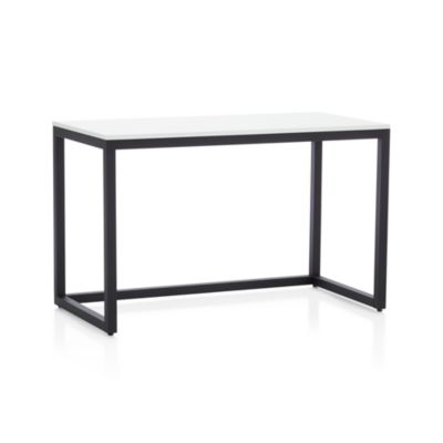Finn White Top Desk with Black Base