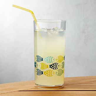 Fish Acrylic Drink Glass