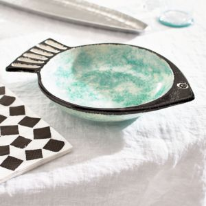 Fish Green Deep Plate