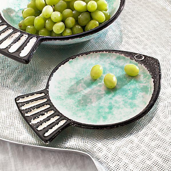 Fish Green Dessert Plate