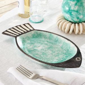 Fish Green Serving Bowl