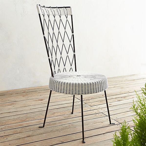 Fish High Back Harlequin Chair White Seat Black Back