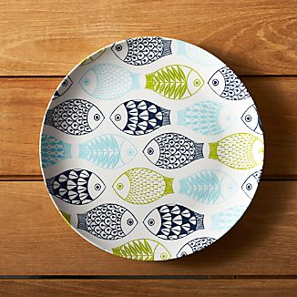 "Fish 10.5"" Melamine Dinner Plate"