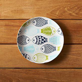 """Fish 8.5"""" Melamine Salad Plate"""