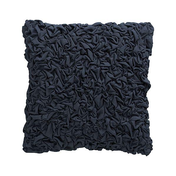 "Fitz Blue 18"" Pillow with Down-Alternative Insert"
