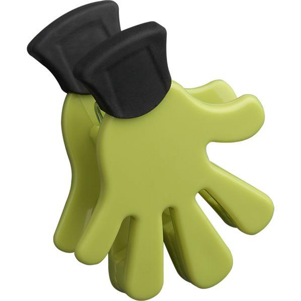 Five Finger Green Magnet-Clip