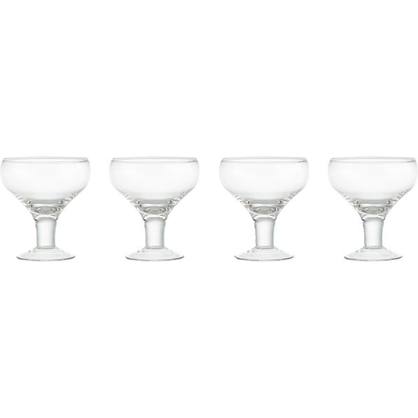 Set of 4 Fizz Cocktail Glasses