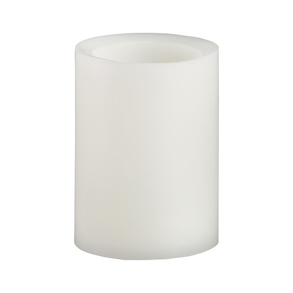 "Flameless Ivory 3""x4"" Pillar Candle with Timer"