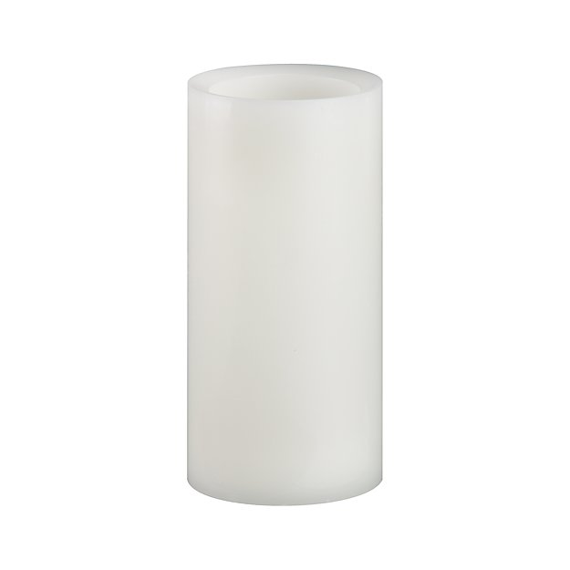 "Flameless Ivory 3""x6"" Pillar Candle with Timer"