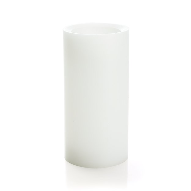 """Flameless White 3""""x6"""" Pillar Candle with Timer"""