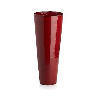 Flared Red Vase