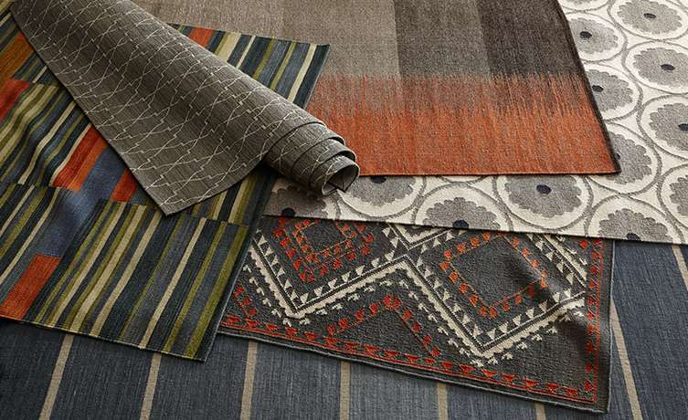 Multiple Flatweave Rugs