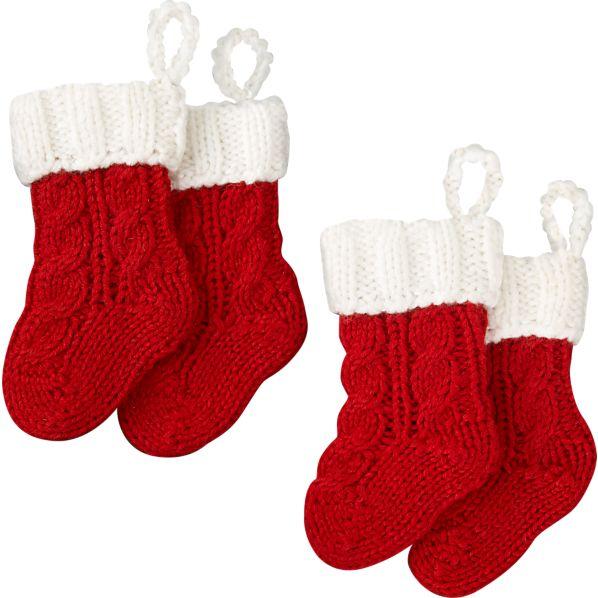 Set of 4 Flatware Stockings