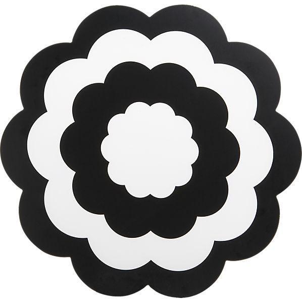 Fleur Black Placemat