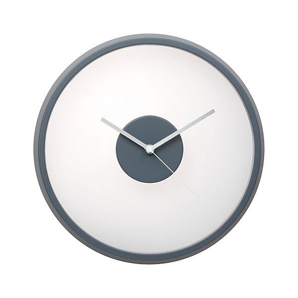 "Floating Grey 12"" Wall Clock"