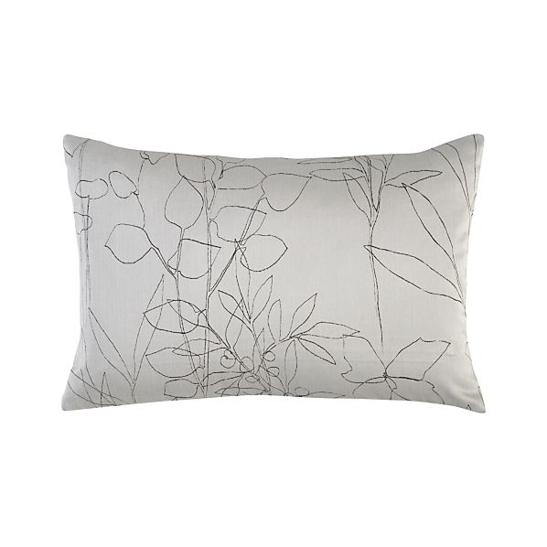 """Floral Etching Dove 18""""x12"""" Pillow"""