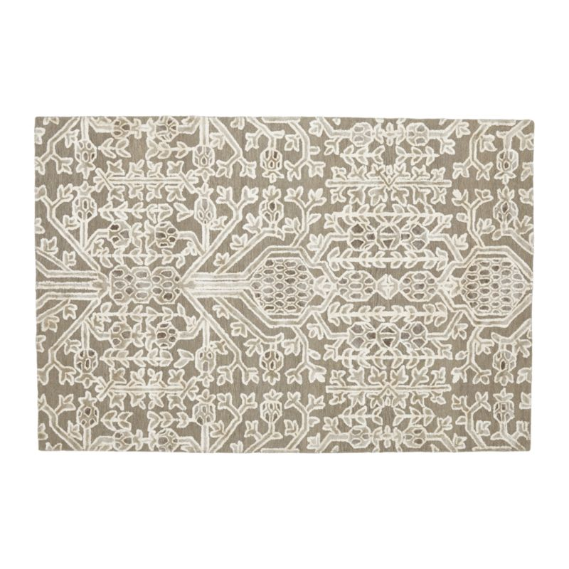 Florian Grey Wool-Blend 6'x9' Rug